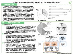 茨城県民の臓器移植と慢性腎臓病に関する意識調査結果-1